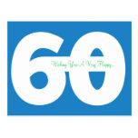 60th cartão felizes do marco miliário do aniversár cartão postal
