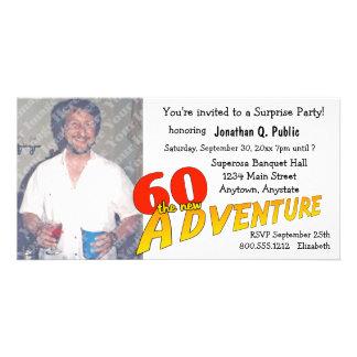 60th Convite da foto do partido de aventura do ani Cartão Com Foto