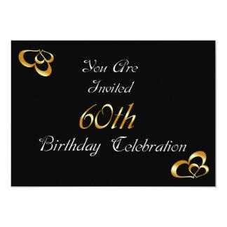 60th Convite de aniversário
