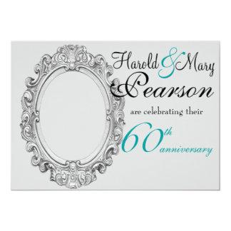 60th convite do aniversário de casamento
