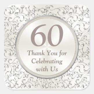 60th etiquetas customizáveis ANO do aniversário,