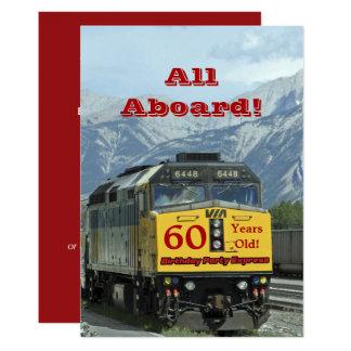 60th Trem de estrada de ferro do convite de