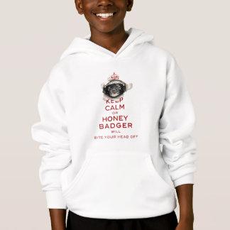 [63,32] Mantenha a calma ou o texugo de mel… T-shirts