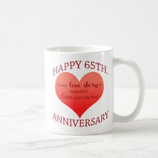 65th. Aniversário Caneca De Café