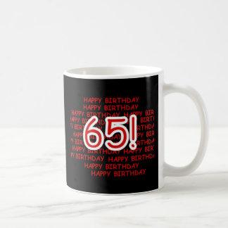 65th aniversário feliz caneca de café