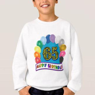 65th aniversário feliz com balões camisetas
