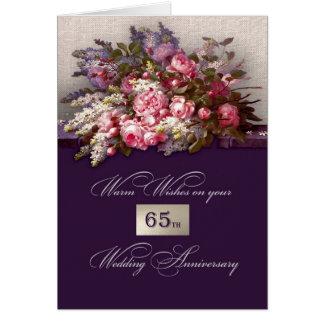 65th Cartões do aniversário de casamento