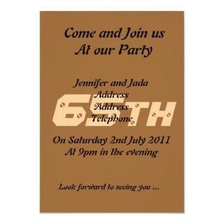 65th Convite de aniversário