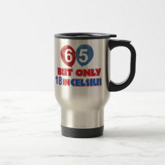 65th design do aniversário caneca térmica