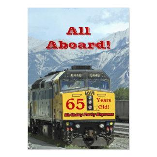 65th Trem de estrada de ferro do convite de