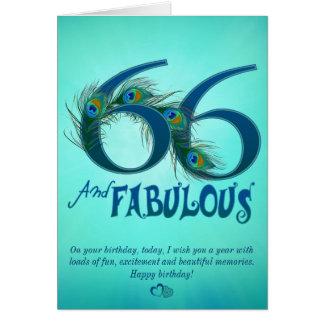 66th Cartões do modelo do aniversário