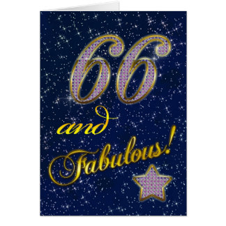 66th Convite de aniversário
