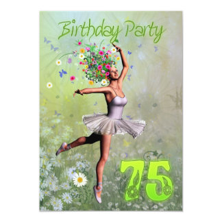75th Convite de aniversário