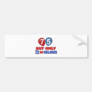 75th design do aniversário dos anos de idade adesivo para carro