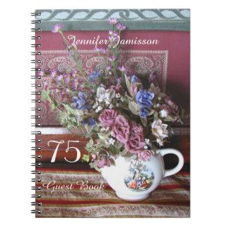 75th Livro de hóspedes da festa de aniversário, Cadernos Espiral