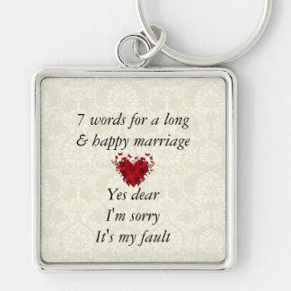 7 palavras a um casamento longo & ao casamento fel chaveiro
