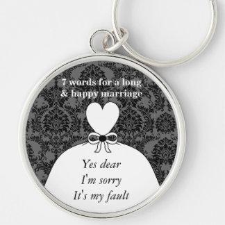 7 palavras a um casamento longo & ao casamento fel chaveiros