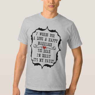 7 palavras para um casamento longo e feliz - t-shirts