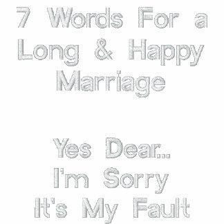 7 palavras para um casamento longo & feliz, sim