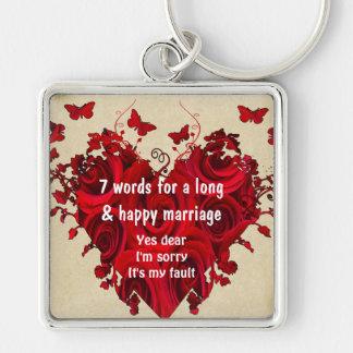7 palavras para um casamento longo & o casamento f chaveiro