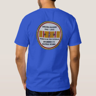 7 veterano pacífico asiático das ESTRELAS WWII da T-shirts