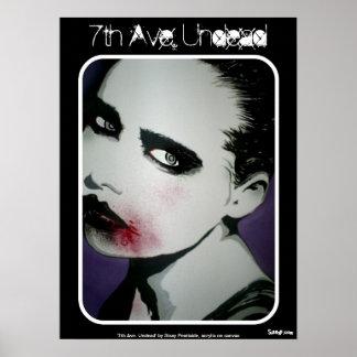"""""""7a avenida. Poster zombi do vivo do"""" Pôster"""