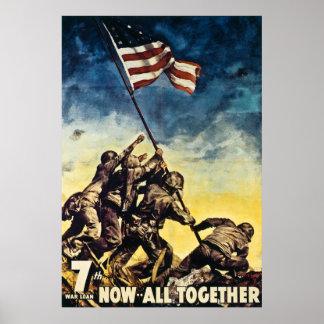 7o Empréstimo agora tudo da guerra junto vintage W Poster