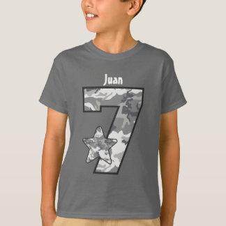 7o Nome feito sob encomenda V04 da estrela de Camo Camiseta