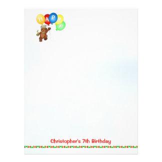 7o papel feliz 4 do álbum de recortes do urso do a panfleto personalizado