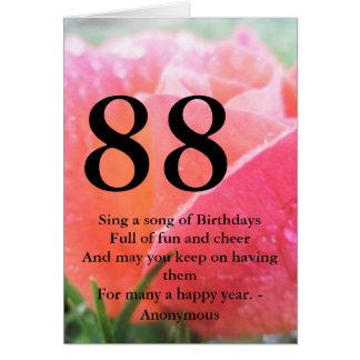 88th Aniversário Cartão Comemorativo