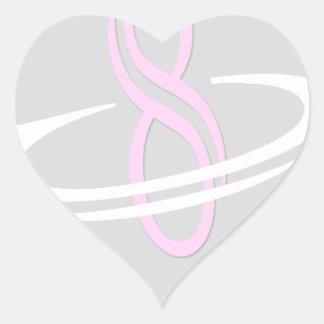 8 artigos do logotipo da contagem adesivo coração