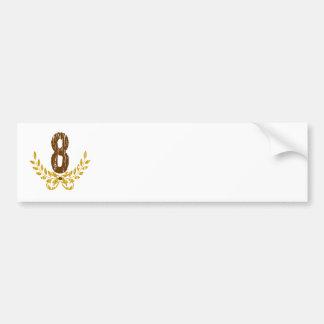 #8 Brown & grinalda do ouro Adesivo Para Carro