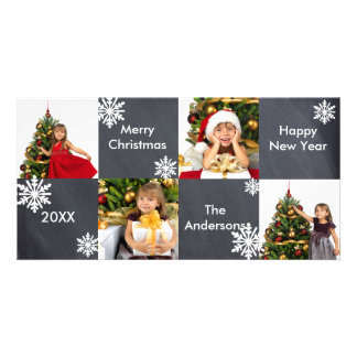 8H esquadra o quadro - cartões de foto de Natal