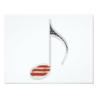 8o Note a bandeira dos E.U. Convite 10.79 X 13.97cm