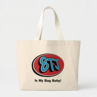 8TJ é meu bebê do saco! Bolsa Tote Grande