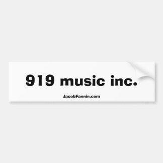 919 música Inc., JacobFannin.com Adesivo Para Carro
