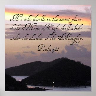 91:1 do salmo pôster