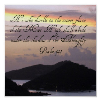 91:1 do salmo pôsteres