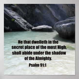 91:1 do salmo posteres