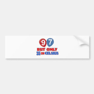 97th design do aniversário dos anos de idade adesivo para carro