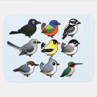 9 pássaros do sudeste do quintal dos EUA Cobertor De Bebe