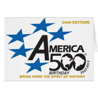A500-Flag-logo, TRAZEM EM CASA o ESPÍRITO de Cartão Comemorativo
