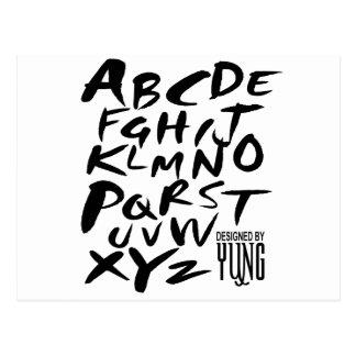 A a letras alfabéticas de Z Cartão Postal