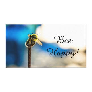 "A abelha feliz Bumble o impressão 14"" das canvas"