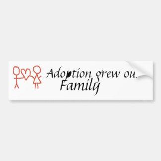 A adopção cresceu nosso pára-choque da família adesivo para carro