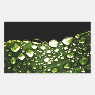 A água deixa cair azulejos finos cristalinos adesivo retângular