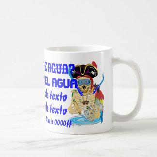 A água do pirata NAO ENORME personaliza o espanhol Caneca De Café