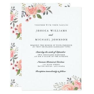A aguarela cora as flores que Wedding convites