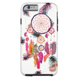 A aguarela Dreamcatcher do hipster empluma-se o Capa Tough Para iPhone 6