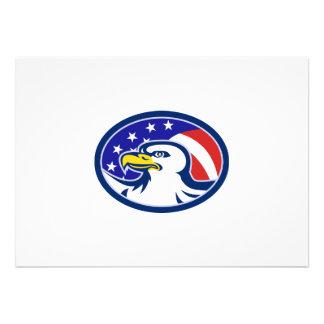 A águia americana americana Stars a bandeira das l Convite Personalizados